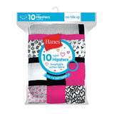 Hanes Girls' Cotton Hipsters 10-Pack GP10HP