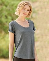 Weatherproof Women's Cool Last Heathered Lux Dolman Sleeve T-Shirt W20429