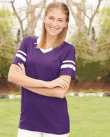 Augusta Sportswear V-Neck Jersey with Striped Sleeves 360
