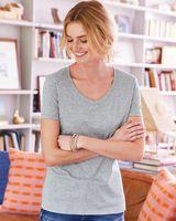 Hanes X-Temp® Women's V-Neck Short Sleeve T-Shirt 42V0
