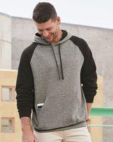 JERZEES Nublend® Colorblocked Raglan Hooded Sweatshirt 96CR
