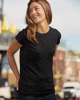 J. America Women's Glitter Short Sleeve T-Shirt 8138