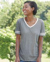 JERZEES Women's Varsity Triblend V-Neck T-Shirt 602WVR