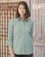 Weatherproof Women's Vintage Stretch Brushed Oxford Shirt W198331