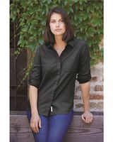 Weatherproof Women's Vintage Brushed Flannel Solid Shirt W198306
