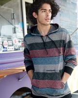 Burnside Printed Stripes Fleece Sweatshirt 8603
