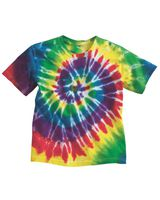 Dyenomite Youth Multi-Color Spiral T-Shirt 20BMS