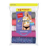 Hanes Women's Bikini 8-Pack (6+2 Free Bonus Pack) P842WB