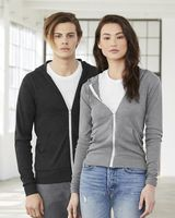 BELLA + CANVAS Unisex Triblend Lightweight Full-Zip Hooded Long Sleeve Tee 3939