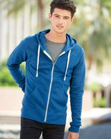 J. America Triblend Full-Zip Hooded Sweatshirt 8872