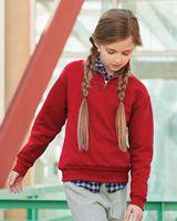 JERZEES Nublend® Youth Quarter-Zip Cadet Collar Sweatshirt 995YR