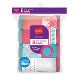 Hanes Ultimate® Girls' Cotton Briefs 8-Pack GUBRP8