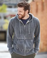 J. America Vintage Zen Fleece Full-Zip Hooded Sweatshirt 8916