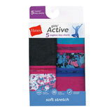 Hanes Girls' Active Stretch Gymshorts 5-Pack GHAGS5