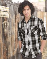 Burnside Long Sleeve Plaid Shirt 8202