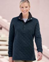 J. America Women's Quilted Snap Pullover 8891