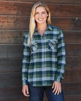 Weatherproof Women's Vintage Brushed Flannel Long Sleeve Shirt W164761