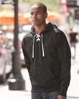 J. America Sport Lace Polyester Fleece Hooded Sweatshirt 8833