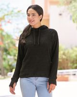 J. America Women's Teddy Fleece Hooded Pullover 8680
