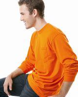Bayside USA-Made 50/50 Long Sleeve T-Shirt with a Pocket 1730