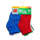 Hanes Boys' Infant/Toddler Ankle 10-Pack 27/10