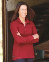 DRI DUCK Women's Fusion Quarter-Zip Nano-Fleece Pullover 9397