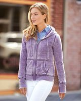 J. America Women's Zen Fleece Full-Zip Hooded Sweatshirt 8913