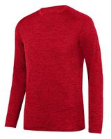 Augusta Sportswear Intensify Black Heather Long Sleeve Tee 2953
