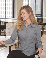 Van Heusen Women's Silky Poplin Shirt 13V0114