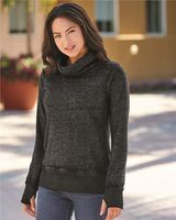 J. America Women's Zen Fleece Cowl Neck Sweatshirt 8930