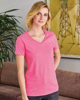 Hanes ComfortSoft® Tagless® Women's V-Neck Short Sleeve T-Shirt 5780