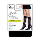 Hanes Perfect Diamond Compression Socks 2-Pack HST016