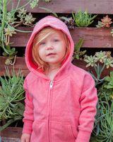 Independent Trading Co. Toddler Lightweight Special Blend Raglan Zip Hood PRM10TSBZ