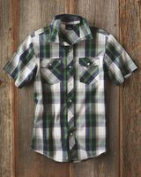 Burnside Short Sleeve Plaid Shirt 9202