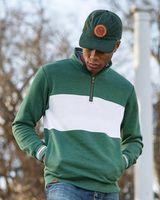 Holloway Ivy League Fleece Colorblocked Quarter-Zip Sweatshirt 229565