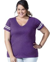 LAT Curvy Collection Women's Vintage Football T-Shirt 3837