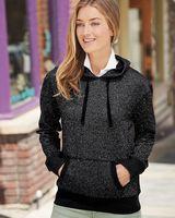 J. America Women's Glitter French Terry Hooded Sweatshirt 8860