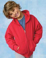 Hanes ComfortBlend® EcoSmart® Youth Full-Zip Hooded Sweatshirt P480
