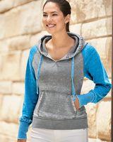 J. America Women's Zen Fleece Raglan Hooded Sweatshirt 8926
