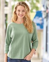 J. America Women's Lounge Fleece Dolman Crewneck Sweatshirt 8685
