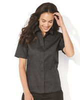 FeatherLite Women's Short Sleeve Stain-Resistant Tapered Twill Shirt 5281