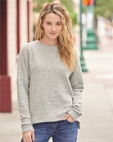 J. America Women's Teddy Fleece Crewneck Pullover 8681
