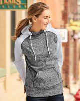 J. America Women's Colorblocked Cosmic Fleece Hooded Sweatshirt 8618