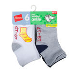 Hanes Infant/Toddler Boys' Ankle Socks 6-Pack 27T6