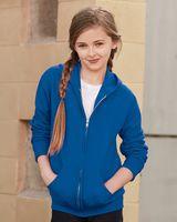 JERZEES NuBlend® Youth Full-Zip Hooded Sweatshirt 993BR