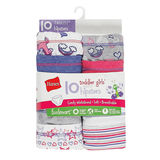 Hanes Toddler Girls' EcoSmart™ Hipsters 10-Pack TEHP10