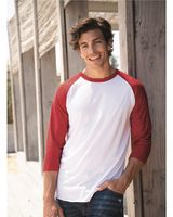 JERZEES Premium Blend Ringspun Three-Quarter Sleeve Raglan Baseball T-Shirt 560RR