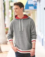 J. America Peppered Fleece Lapover Hooded Sweatshirt 8701