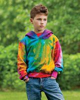MV Sport Youth Classic Fleece Tie Dye Hood 128Y