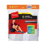 Hanes Men's Cushion No-Show Socks 6-Pack 190/6